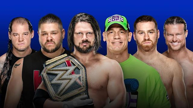 Complete results and live coverage of tonight's pay-per-view, featuring a Six Pack Challenge that includes John Cena and AJ Styles for the WWE Championship.