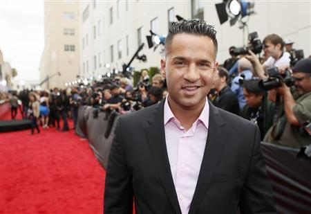 Television personality Mike Sorrentino arrives at the 2013 MTV Movie Awards in Culver City