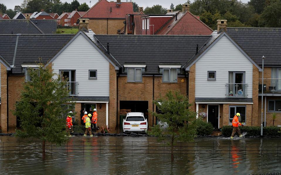 A general view of the flooded area in Hemel Hampstead - Paul Childs/Reuters