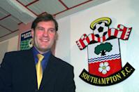 This picture can only be used within the context of an editorial feature. The former England coach Glenn Hoddle poses at The Dell after he returned to the game when he was appointed as manager of Southampton on a 12 month contract. * Hoddle will be joined at The Dell by his former England assistant John Gorman who has left his position at Reading.