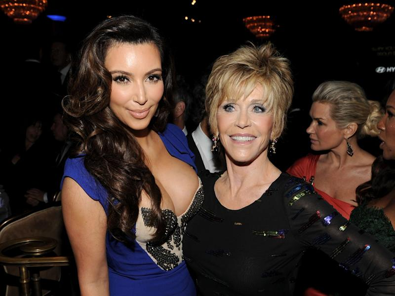 Jane Fonda recounts interaction with Kim Kardashian about her behind (Getty)