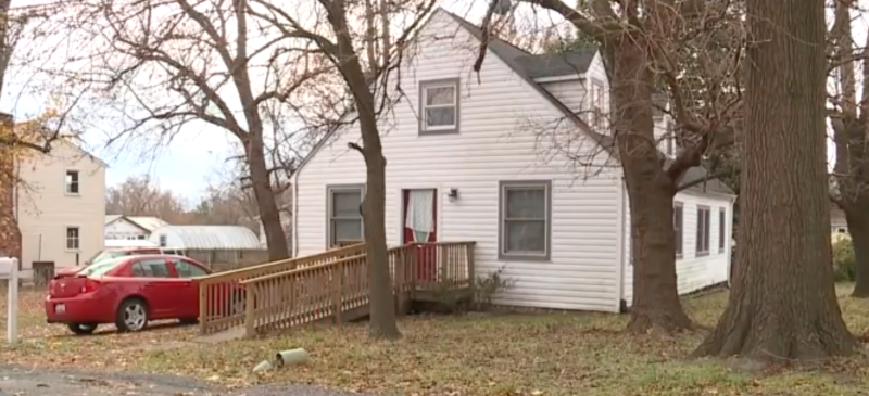 An exterior of the Baltimore home where baby Niyear Taylor, who was 9 months old, was found unresponsive.