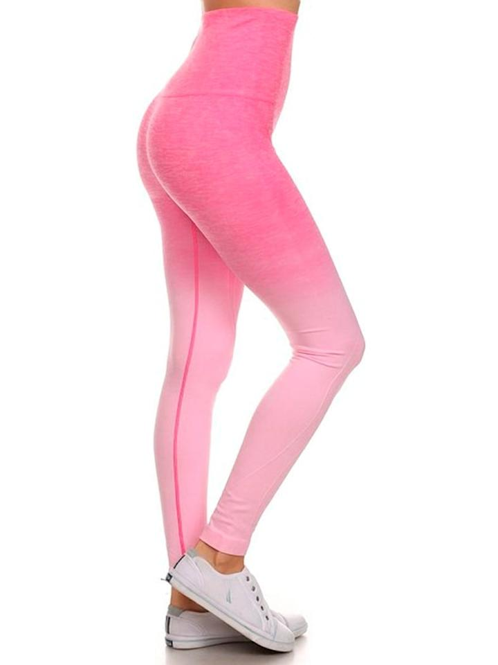 """<p>Everyone will want to know where these <a href=""""https://www.popsugar.com/buy/HoneyComfy-Dip-Dye-Leggings-488044?p_name=HoneyComfy%20Dip%20Dye%20Leggings&retailer=walmart.com&pid=488044&price=19&evar1=fit%3Aus&evar9=45889663&evar98=https%3A%2F%2Fwww.popsugar.com%2Ffitness%2Fphoto-gallery%2F45889663%2Fimage%2F46615512%2FHoneyComfy-Dip-Dye-Leggings&list1=shopping%2Cworkout%20clothes%2Cwalmart%2Cfitness%20gear%2Cfitness%20shopping&prop13=api&pdata=1"""" rel=""""nofollow"""" data-shoppable-link=""""1"""" target=""""_blank"""" class=""""ga-track"""" data-ga-category=""""Related"""" data-ga-label=""""https://www.walmart.com/ip/Lt-Pink-Ombre-Dip-Dye-Leggings/703131136"""" data-ga-action=""""In-Line Links"""">HoneyComfy Dip Dye Leggings</a> ($19) are from.</p>"""