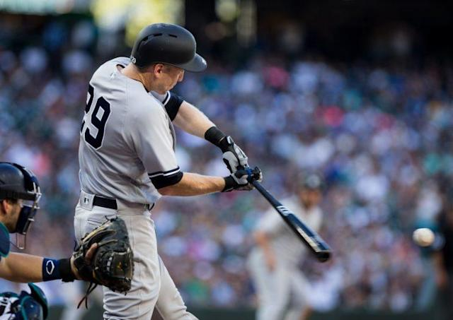 Todd Frazier's first at-bat in front of his new home crowd didn't go as expected. (Getty Images)