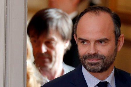 French Prime Minister Edouard Philippe arrives to announce the French government's official decision to abandon the Grand Ouest Airport (AGO) project in Notre-Dame-des-Landes following the weekly cabinet meeting at the Elysee Palace in Paris, France, January 17, 2018. REUTERS/Charles Platiau