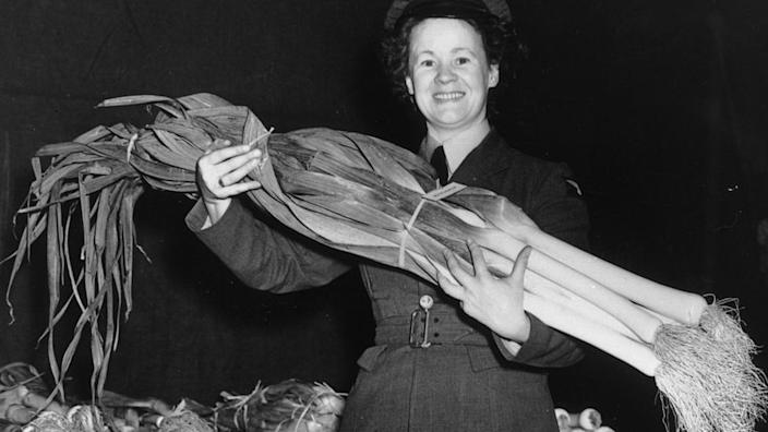 A prize leek from 1949