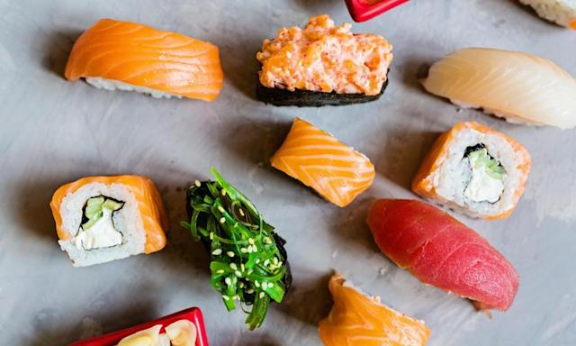 """<span class=""""element-image__caption"""">Sushi to go…</span> <span class=""""element-image__credit"""">Photograph: Alamy Stock Photo</span>"""