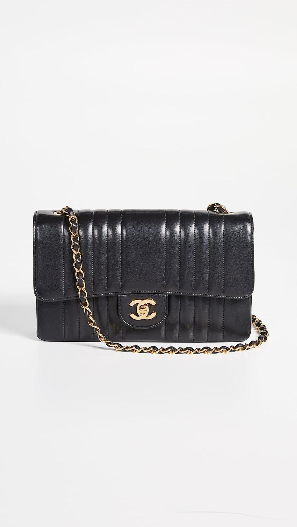 """<p>If you know someone who's always dreamed of owning a Chanel bag and you really want to treat them, then no doubt get them the coveted <span>Chanel Vertical 10"""" Flap Bag</span> ($4,300).</p>"""