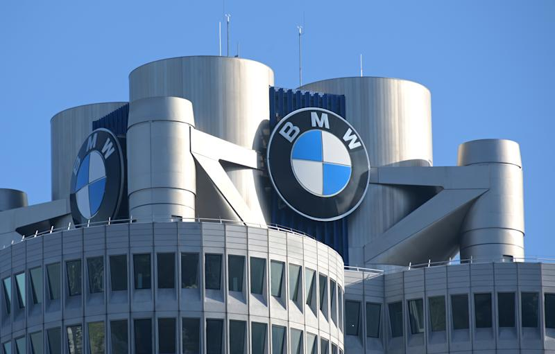 20 March 2019, Bavaria, München: The BMW logo on the headquarters of the automobile manufacturer BMW before the start of the annual press conference. BMW sold more cars last year, but made significantly less profit than in the previous year. Photo: Tobias Hase/dpa (Photo by Tobias Hase/picture alliance via Getty Images)
