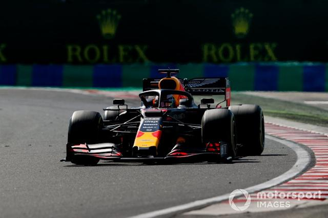 "Max Verstappen, Red Bull Racing RB15 <span class=""copyright"">Zak Mauger / LAT Images</span>"