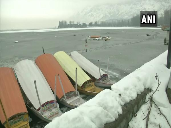 Visuals from the Dal lake. (Photo/ANI)