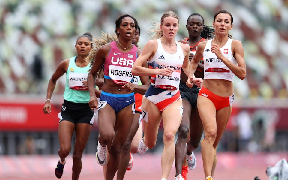 Keely Hodgkinson leads the way - GETTY