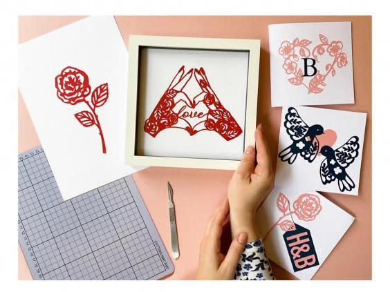 Create your own artwork with your guests by using this papercutting kit (MakeBox+Co)