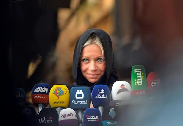 Sistani, who never appears in public, received the United Nations' top official in Iraq, Jeanine Hennis-Plasschaert, to give support to her roadmap for reforms (AFP Photo/Haidar HAMDANI)