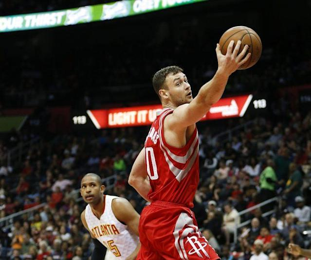 Donatas Motiejunas has been hampered by back issues. (AP)