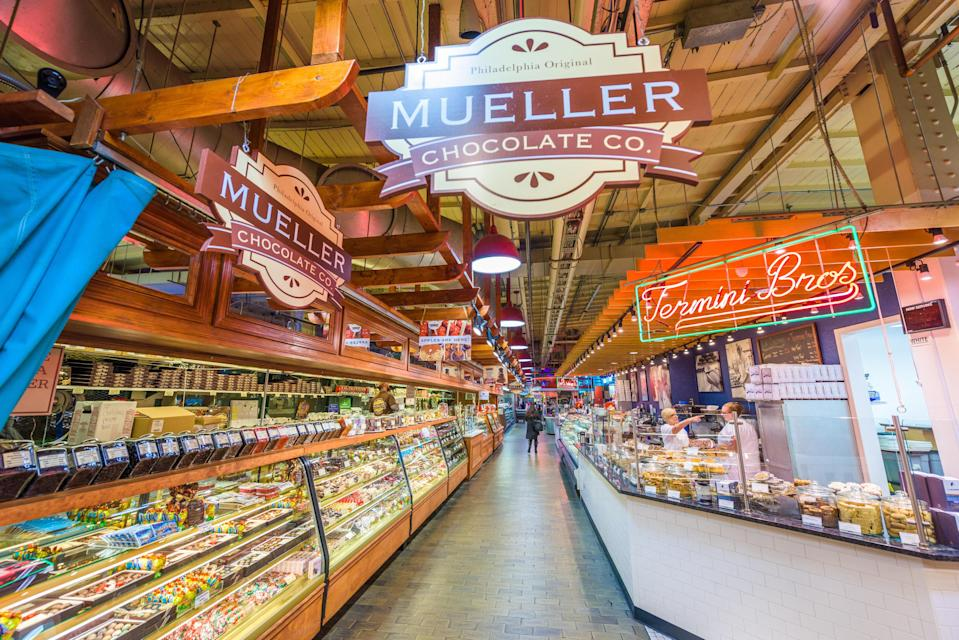 "<p><strong>Best thing to do in Pennsylvania:</strong> Eat your way through Reading Terminal Market</p> <p>For more than 100 years, this food market in <a href=""https://www.cntraveler.com/destinations/philadelphia-pennsylvania?mbid=synd_yahoo_rss"" rel=""nofollow noopener"" target=""_blank"" data-ylk=""slk:Philadelphia"" class=""link rapid-noclick-resp"">Philadelphia</a>'s Center City neighborhood has catered to the gustatory whims of both locals and tourists. It remains one of the best places in the city to grab a bite, like the roast pork and broccoli rabe sandwich at DiNic's, or a hearty plate of eggs and scrapple (a local pork delicacy) at the Amish diner Dutch Eating Place. And be sure to load up on only-in-Philly specialties, like Famous 4th Street cookies, or an apple fritter from Beiler's Bakery.</p>"