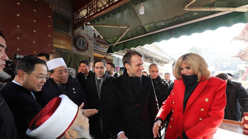 Macron appeals to China over climate change and boosting ties