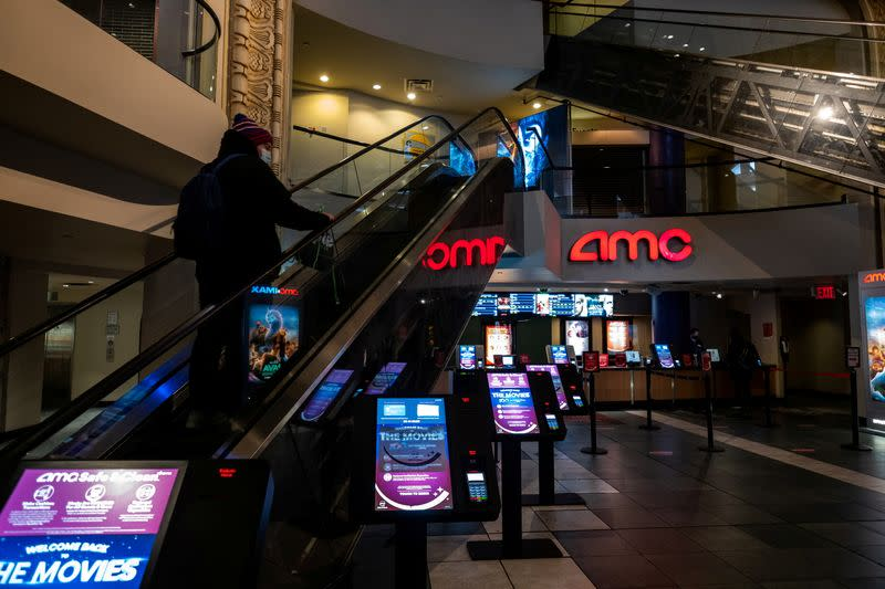 FILE PHOTO: Movie theatres opening in New York City