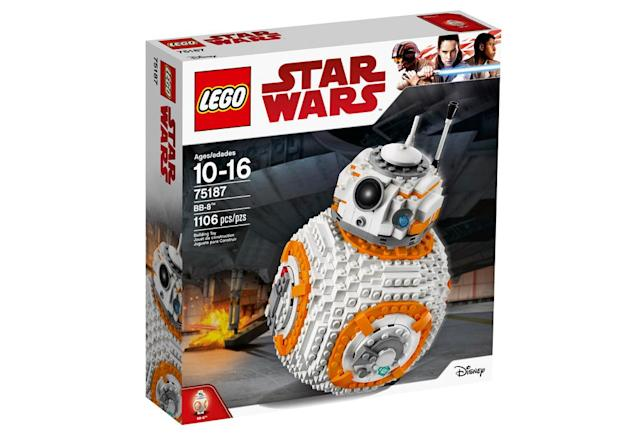"<p>""Own your very own Lego BB-8! Turn the wheel to spin the head and turn another to open the hatch and see the welding torch pop out, just like it did in the movie! You can also sit BB-8 on the stand so you can show your friendly droid to all your friends when they come to visit!"" $99.99 (Photo: Lego) </p>"