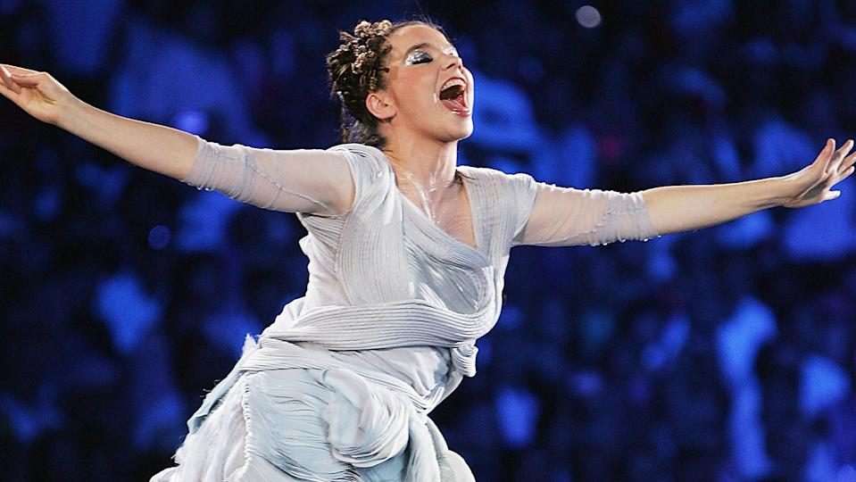 Bjork, pictured here singing during the opening ceremony of the 2004 Olympic Games in Athens.