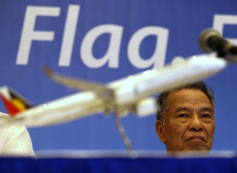 Lucio Tan, Chairman of Philippine Airlines. (AP Photo/Bullit Marquez)