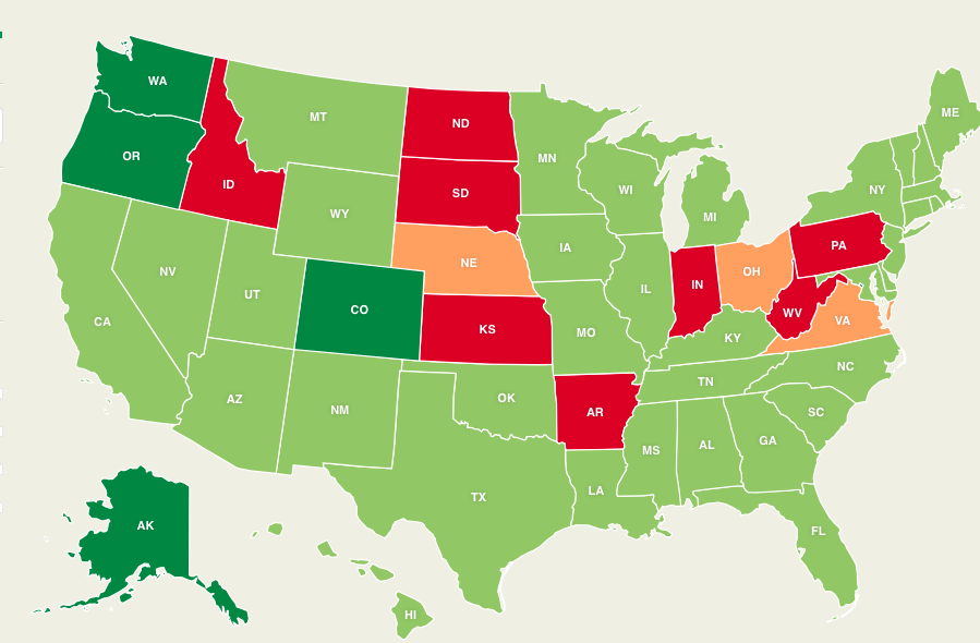 Here's a Map of Every State and Their Marijuana Laws