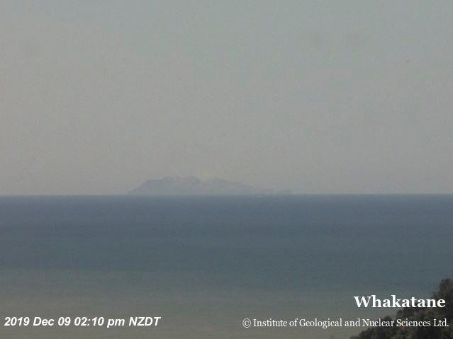 Whakaari, also known as White Island, volcano is seen a minute before eruption in New Zealand