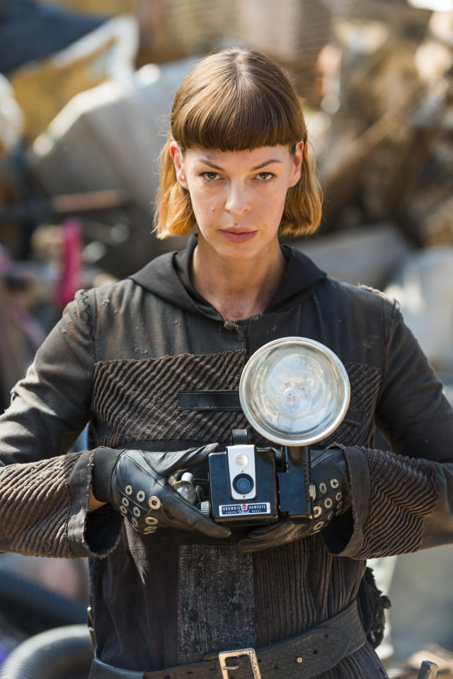<p>Pollyanna McIntosh as Jadis in AMC's <i>The Walking Dead</i>.<br>(Photo: Gene Page/AMC) </p>