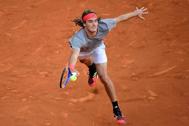 Stefanos Tsitsipas lost in the Madrid final to Novak Djokovic (AFP Photo/JAVIER SORIANO)