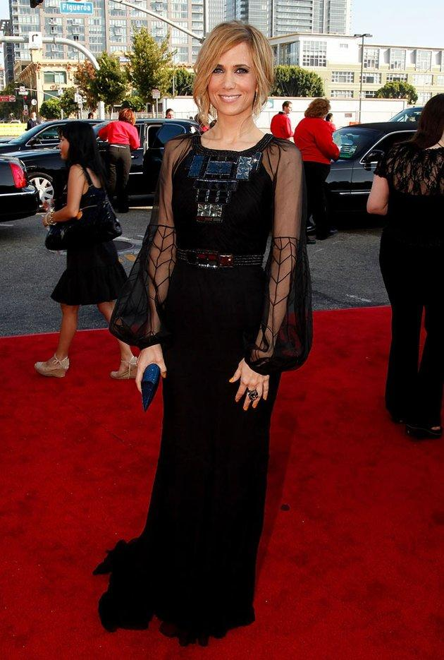 WORST: Kristen Wiig at the 61st Primetime Emmy Awards held at the Nokia Theatre on September 20, 2009, in Los Angeles.