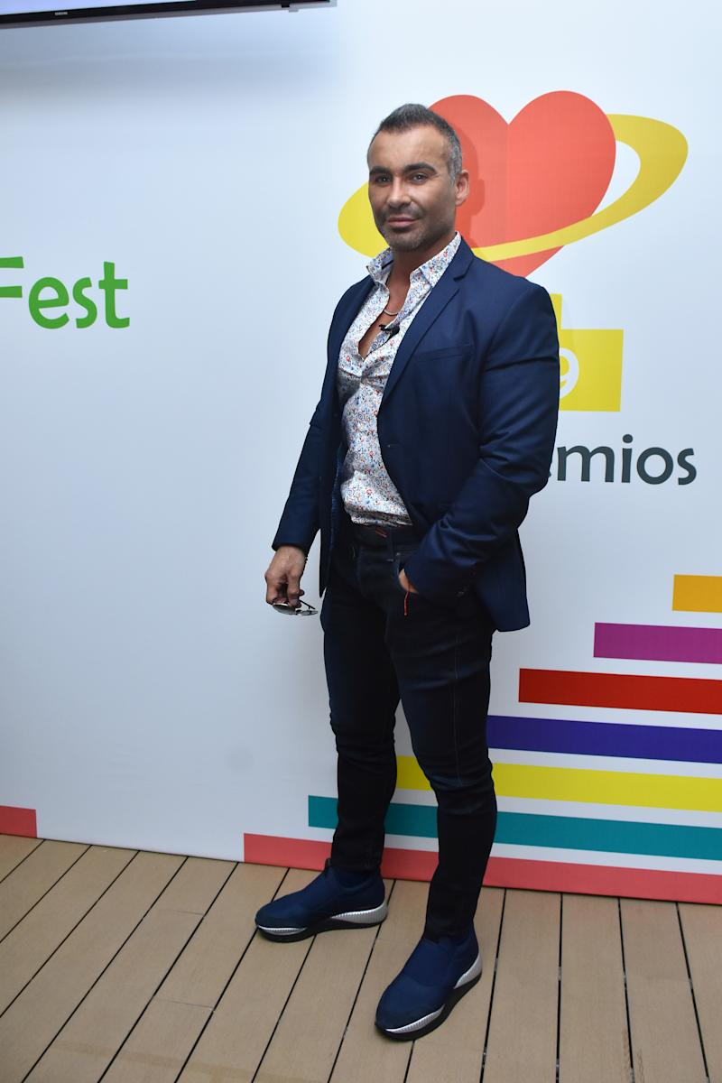 Diego DiMarco poses for photos during a press conference to promote 'Bien Fest 2019' It is a festival to raise awareness among citizens to be in good health at Casa Zertu on September 3, 2019 in Mexico City, Mexico (Photo by Eyepix/NurPhoto via Getty Images)