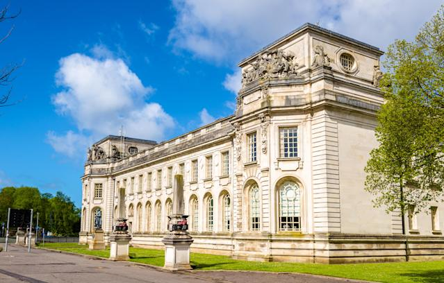 Cardiff Crown Court, pictured, heard that Hopes had a file called 'For Baiting' where he kept photos and graphic videos of a teenage girl and sent it to deceive boys.