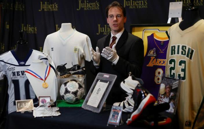 """Kendall Capps speaks about the upcoming """"Sports: Legends"""" auction in Culver City"""