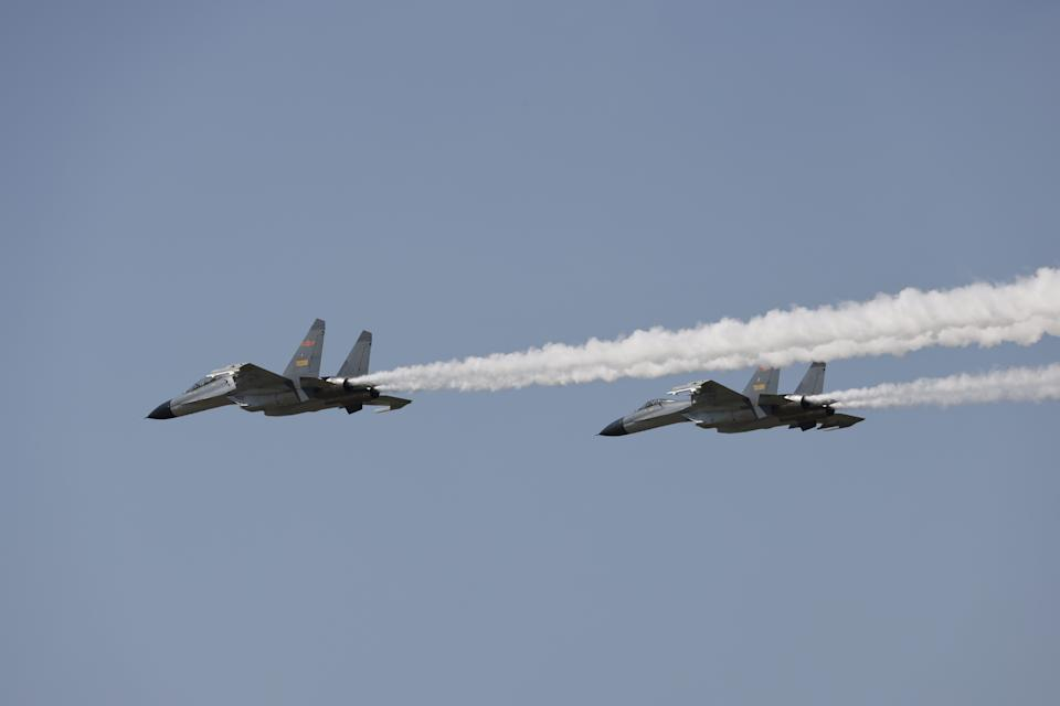 China sent 19 aircraft into Taiwan's official airspace as fears remain such actions could boil over into conflict. Source: Getty