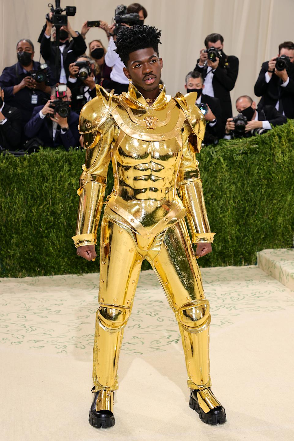 Lil Nas attends The 2021 Met Gala Celebrating In America: A Lexicon Of Fashion at Metropolitan Museum of Art on September 13, 2021 in New York City. (Getty Images)
