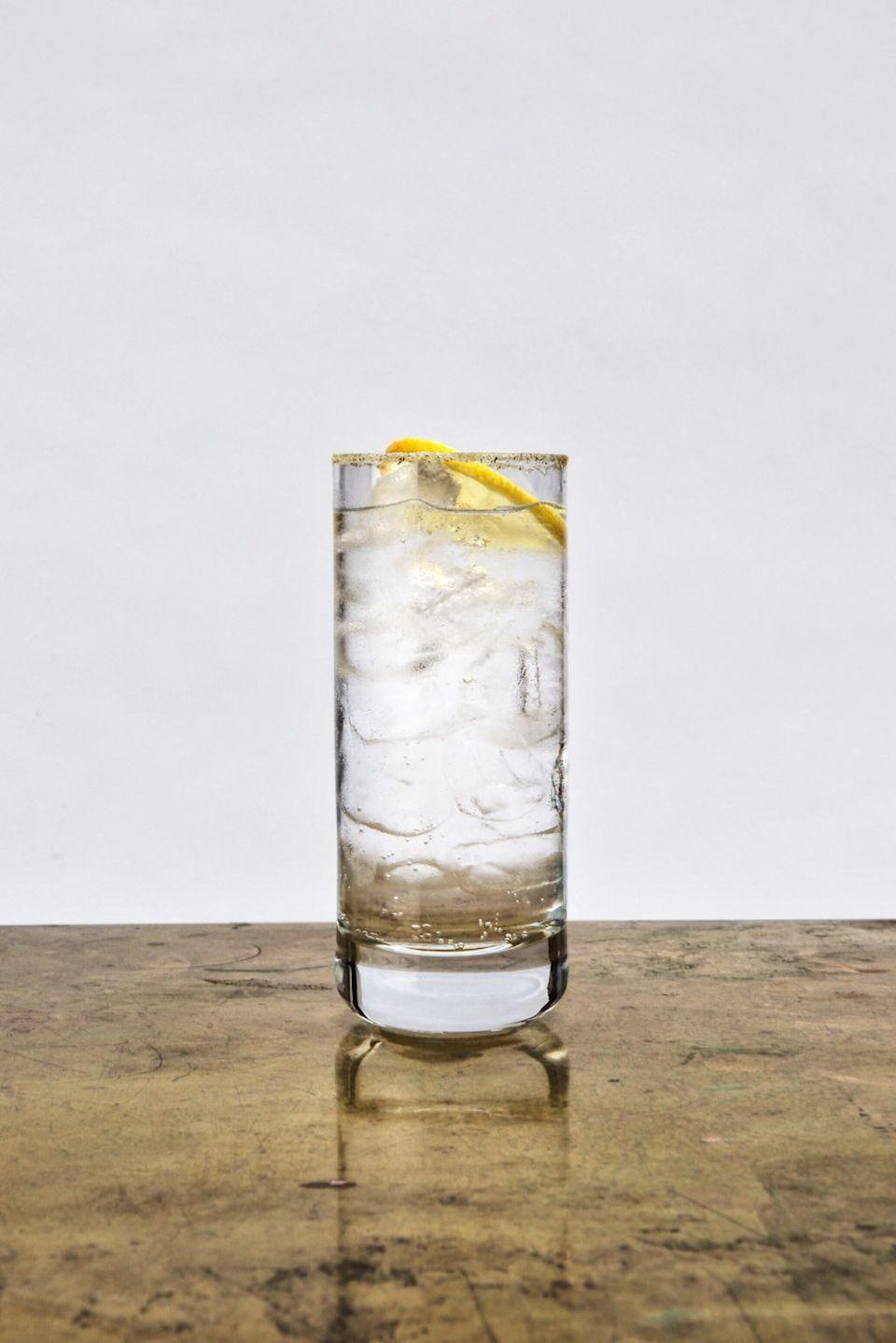 """<p><a href=""""https://www.hepplespirits.com/"""" rel=""""nofollow noopener"""" target=""""_blank"""" data-ylk=""""slk:Hepple"""" class=""""link rapid-noclick-resp"""">Hepple</a> is a slow gin distillery based in the Northumberland Moors, one of Britain's last wild sanctuaries for juniper to grow freely. As a result of the landscape, juniper is the main focus on this very traditional gin. Hepple has also created an ultimate G&T which uses its gin, any light tonic and its specially created Douglas fir sherbet around the rim, which is made from Douglas fir needles. The sherbet lends a tang to the bitter juniper and lifts the taste beautifully. </p><p>Pair it with <a href=""""https://www.navasdrinks.com/mixers/soda-water"""" rel=""""nofollow noopener"""" target=""""_blank"""" data-ylk=""""slk:Navas soda water"""" class=""""link rapid-noclick-resp"""">Navas soda water</a> for an earthy and leafy G&T. Crafted with the aim of heightening, not overpowering, Navas showcases the provenance of ingredients and celebrate heritage. Completely natural, Navas mixers are made from a blend of the finest distilled botanicals, natural plant extracts and Cornish spring water. If you want a little more flavour, add a few drops of Butler and Brewer's elderflower, cucumber and apple tonic-enhancer.</p>"""