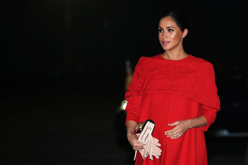 """<p>""""We'd take into account any yoga postures she was trying to improve, and focus our efforts in those areas,"""" Meghan's trainer McNamee told <a href=""""https://www.womenshealthmag.com/fitness/a19745816/meghan-markle-workout/"""" rel=""""nofollow noopener"""" target=""""_blank"""" data-ylk=""""slk:WomensHealthMag.com"""" class=""""link rapid-noclick-resp"""">WomensHealthMag.com</a> in 2018. In other words, if Meghan was dead-set on mastering a headstand, McNamee would include some more core exercises in her fitness routine.</p>"""