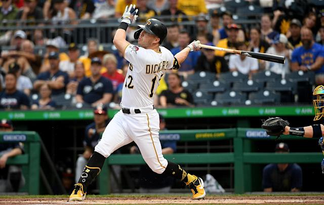 Corey Dickerson has been traded from the Pittsburgh Pirates, but good news: he doesn't even have to leave the state. (Getty Images)