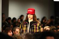 """<p>Riffing off President Trump's """"Make America Great Again"""" hats, Public School wants to """"Make America New York."""" (Photo: Getty Images) </p>"""
