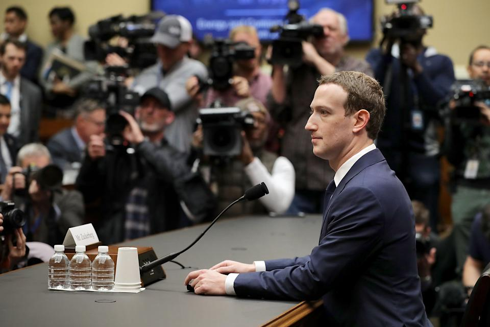 Facebook co-founder, Chairman and CEO Mark Zuckerberg prepares to testify before the House Energy and Commerce Committee in the Rayburn House Office Building on Capitol Hill April 11, 2018 in Washington, DC. (Chip Somodevilla/Getty Images)