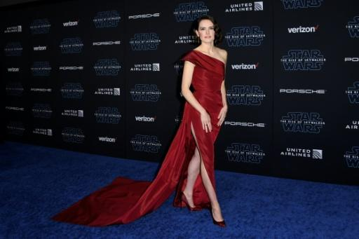 "English actress Daisy Ridley, pictured the world premiere of ""Star Wars: The Rise of Skywalker"" on December 16, 2019, says the saga's diversity ""is a legacy to be proud of"""