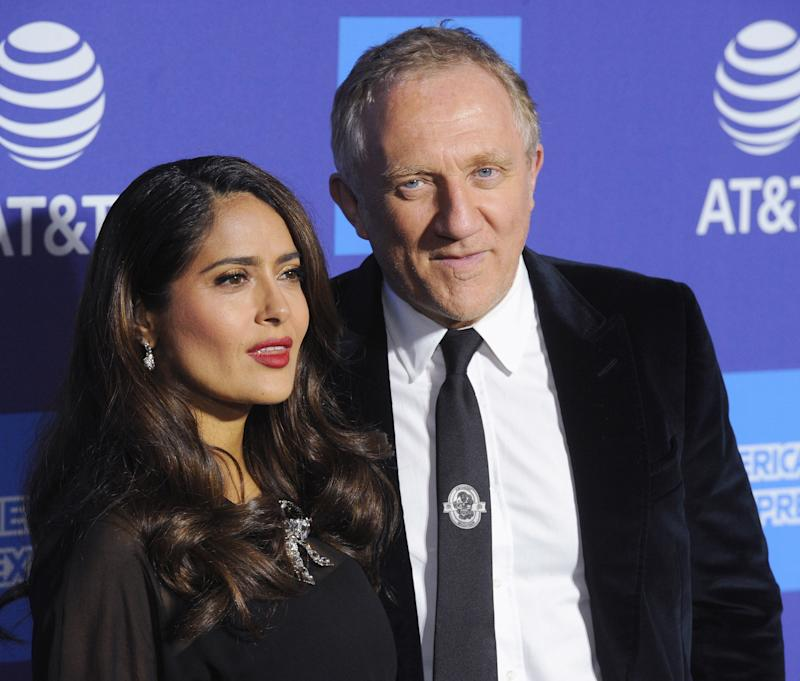 Salma Hayek and François-Henri Pinault are celebrating the 14-year anniversary of when they first met. (Photo by Albert L. Ortega/Getty Images)