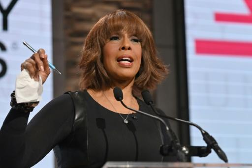 CBS anchor Gayle King, seen speaking at a November 20, 2019 awards event in New York, has received death threats over an interview about late basketball star Kobe Bryant