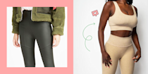 """<p>Leggings are great for all types of weather—i.e., there are breathable, lightweight variations for warmer weather and thicker, fleece-lined ones for cold weather. And since <a href=""""https://www.cosmopolitan.com/winter-fashion/"""" rel=""""nofollow noopener"""" target=""""_blank"""" data-ylk=""""slk:winter"""" class=""""link rapid-noclick-resp"""">winter</a> is comin' up soon, we've rounded up the latter, so you can be comfy in your freezing apartment or when you're venturing outside in chilly temps. But what makes these so different from regular leggings? Typically, fleece is made from polyester, but woven in a way that's a bit textured and fluffy. This keeps in warmth better than, say, spandex, and they're also so incredibly soft that you won't wanna take them off. And there are a variety of styles out there, from plain <a href=""""https://www.cosmopolitan.com/style-beauty/fashion/g32178213/best-black-leggings/"""" rel=""""nofollow noopener"""" target=""""_blank"""" data-ylk=""""slk:black leggings"""" class=""""link rapid-noclick-resp"""">black leggings</a> to ones that are a bit dressier if you want to look like you made a little more of an effort. </p><p>Here, 13 of the best fleece-lined leggings you can shop this winter to bundle up and stay warm in. And if you're looking for even more comfy cold-weather finds click for the <a href=""""https://www.cosmopolitan.com/style-beauty/fashion/g31814564/best-sweatpants-for-women/"""" rel=""""nofollow noopener"""" target=""""_blank"""" data-ylk=""""slk:best sweatpants"""" class=""""link rapid-noclick-resp"""">best sweatpants</a>, the <a href=""""https://www.cosmopolitan.com/style-beauty/fashion/g25474791/best-winter-coats-for-women/"""" rel=""""nofollow noopener"""" target=""""_blank"""" data-ylk=""""slk:best winter coats"""" class=""""link rapid-noclick-resp"""">best winter coats</a>, the warmest <a href=""""https://www.cosmopolitan.com/style-beauty/fashion/g24114977/best-snow-boots/"""" rel=""""nofollow noopener"""" target=""""_blank"""" data-ylk=""""slk:snow boots"""" class=""""link rapid-noclick-resp"""">snow boots</a>, and <a href=""""https://www.cosmopolitan.c"""