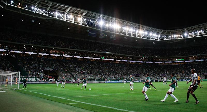 SAO PAULO, BRAZIL - NOVEMBER 03: General view of the match bettween Palmeiras and Santos during the match for the Brasileirao Series A 2018 at Allianz Parque Stadium on November 03, 2018 in Sao Paulo, Brazil. (Photo by Alexandre Schneider/Getty Images)