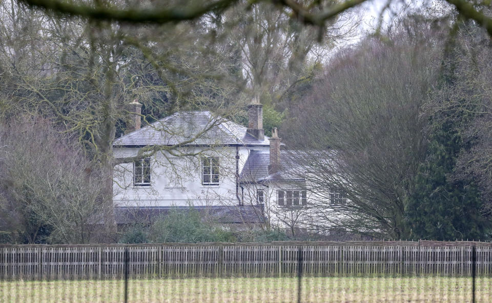 A general view of Frogmore Cottage on the Home Park Estate, Windsor. PA Photo. Picture date: Tuesday January 14, 2020. It's the home of the Duke and Duchess of Sussex. Photo credit should read: Steve Parsons/PA Wire (Photo by Steve Parsons/PA Images via Getty Images)