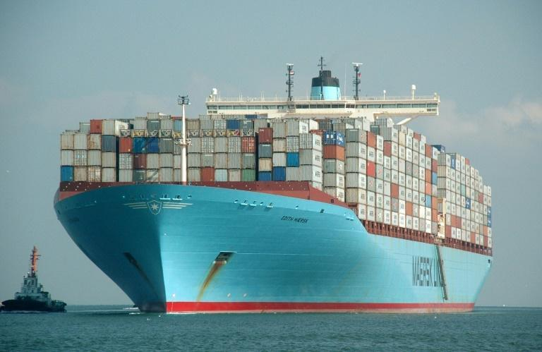 The shortage of container ships cannot be quickly remedied as cargo vessels take years to build (AFP/STR)
