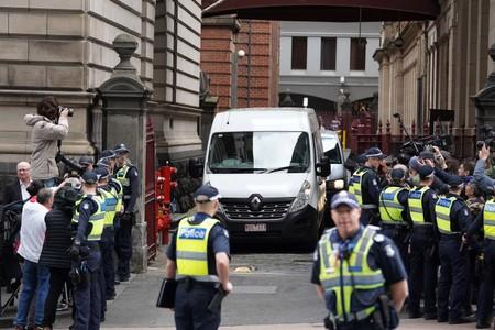 George Pell departs the Supreme Court of Victoria, Melbourne, Australia
