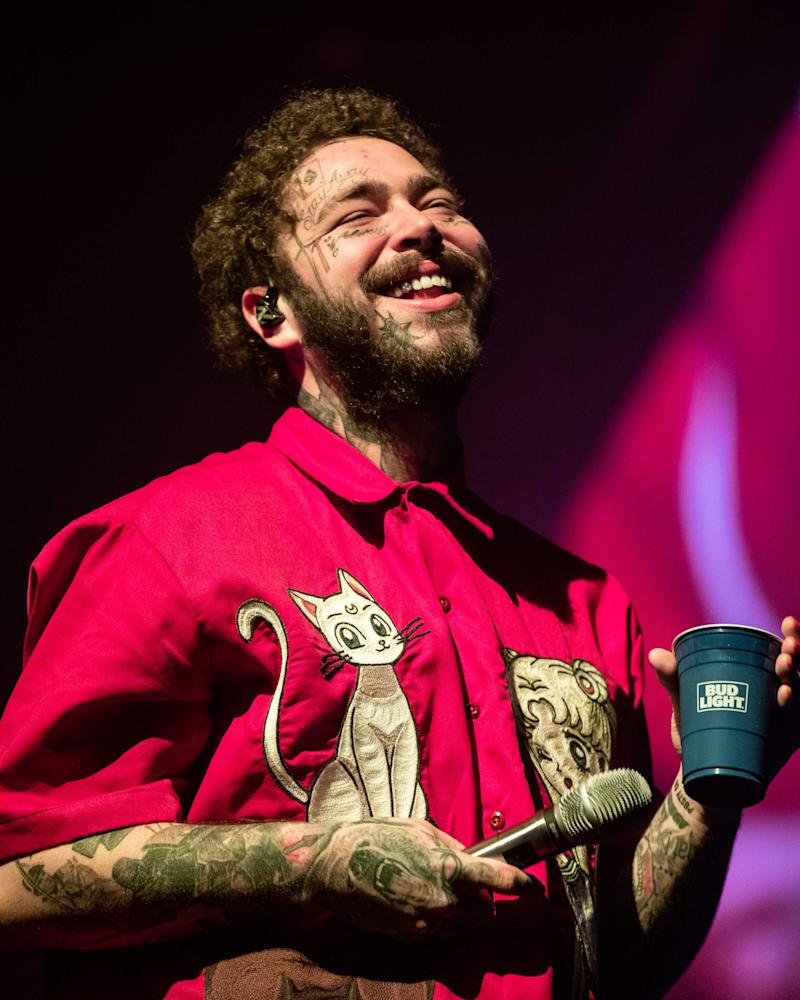 Post Malone talks UFOs, mushrooms and wearing masks on Joe Rogan podcast