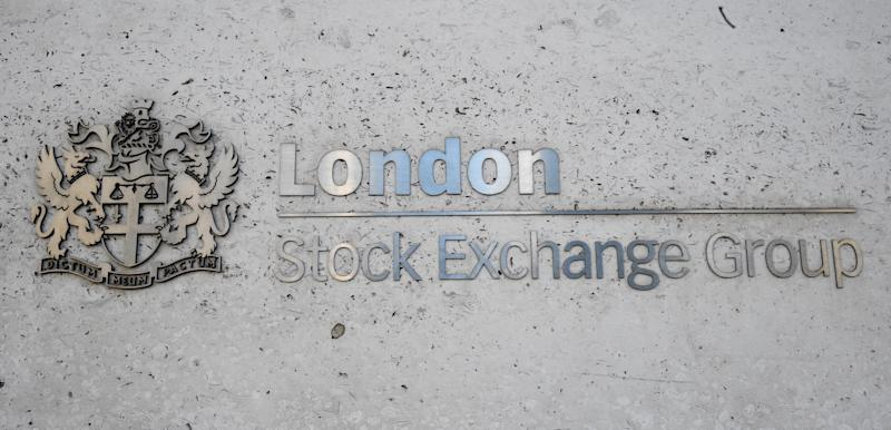 File photo dated 06/02/18 of the London Stock Exchange sign in the City of London. The group has reported a 5% rise in income to ??546 million over its first quarter as its clearing house LCH enjoyed surging growth.